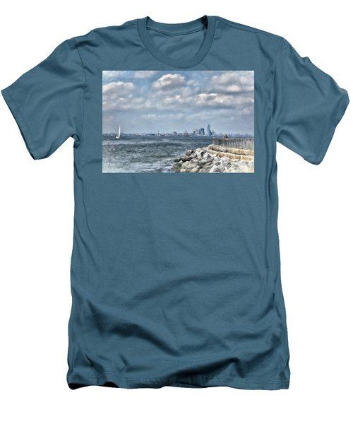 Watercolor Views Men's T-Shirt (Slim Fit) by Terry Cork