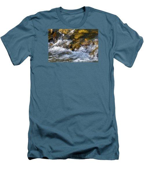 Men's T-Shirt (Slim Fit) featuring the photograph Watercourse by Jean Bernard Roussilhe