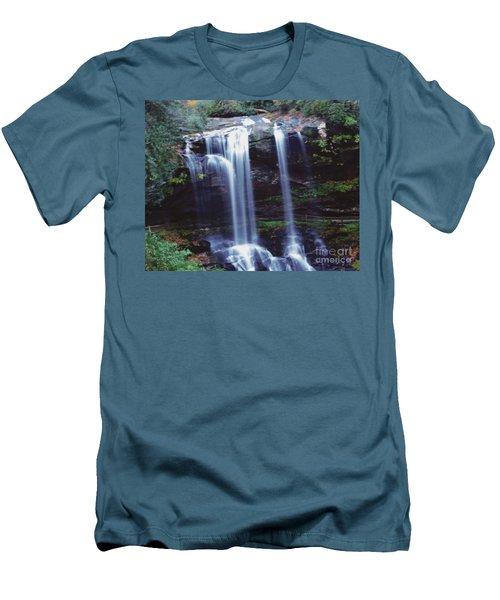 Waterfall  Men's T-Shirt (Slim Fit) by Debra Crank