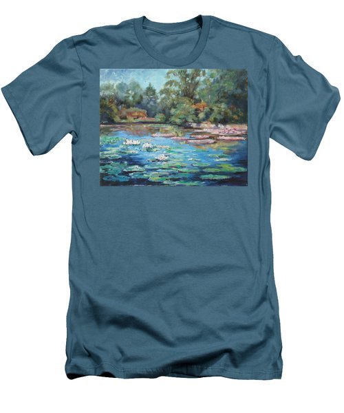 Waterlilies Pond In Tower Grove Park Men's T-Shirt (Athletic Fit)
