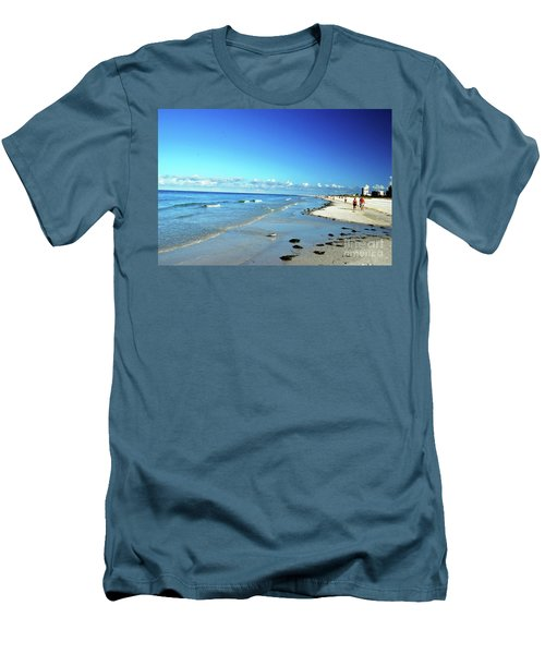 Men's T-Shirt (Athletic Fit) featuring the photograph Water's Edge by Gary Wonning