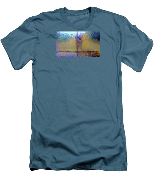 Men's T-Shirt (Athletic Fit) featuring the photograph Watery Rainbow Abstract by Nareeta Martin
