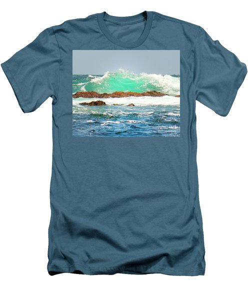Waves At Pacific Grove California Men's T-Shirt (Athletic Fit)