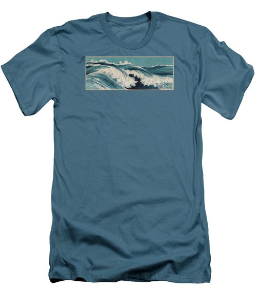 Waves Men's T-Shirt (Slim Fit) by Konen Uehara