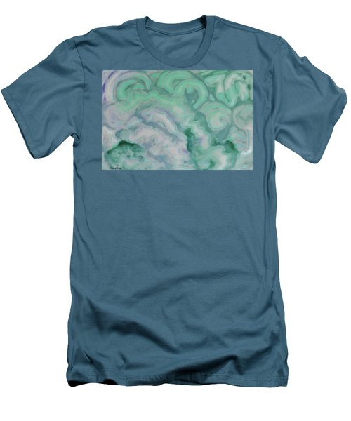 Men's T-Shirt (Athletic Fit) featuring the painting Waves by Michele Myers
