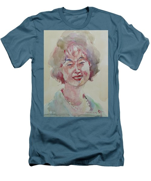 Wc Portrait 1627 My Sister Hyunju Men's T-Shirt (Slim Fit) by Becky Kim