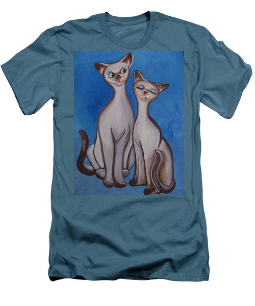 We Are Siamese Men's T-Shirt (Slim Fit) by Leslie Manley