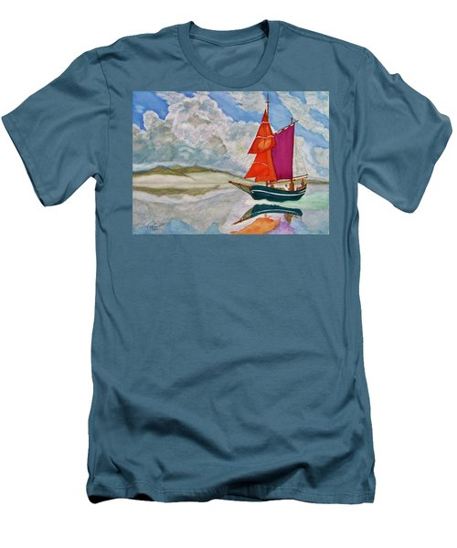 We Sailed Upon A Sea Of Glass Men's T-Shirt (Slim Fit) by Rand Swift