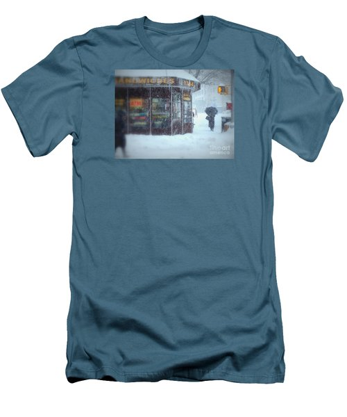 We Sell Flowers - Winter In New York Men's T-Shirt (Slim Fit) by Miriam Danar