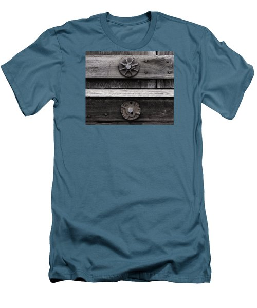 Weathered Wood And Metal Five Men's T-Shirt (Slim Fit) by Kandy Hurley