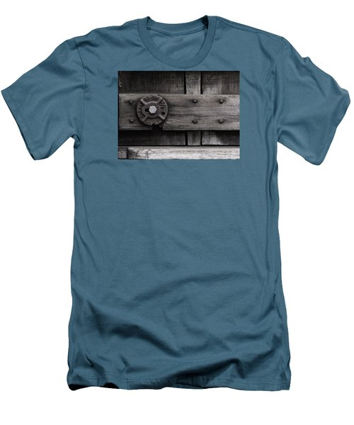 Weathered Wood And Metal Four Men's T-Shirt (Slim Fit) by Kandy Hurley