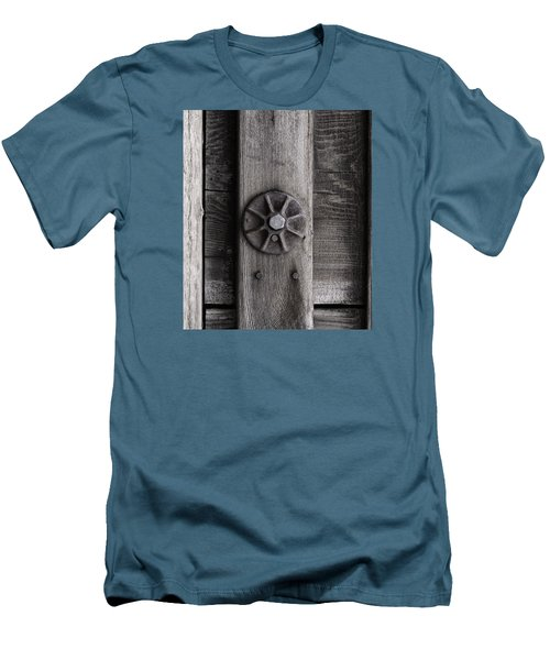 Weathered Wood And Metal Three Men's T-Shirt (Slim Fit) by Kandy Hurley