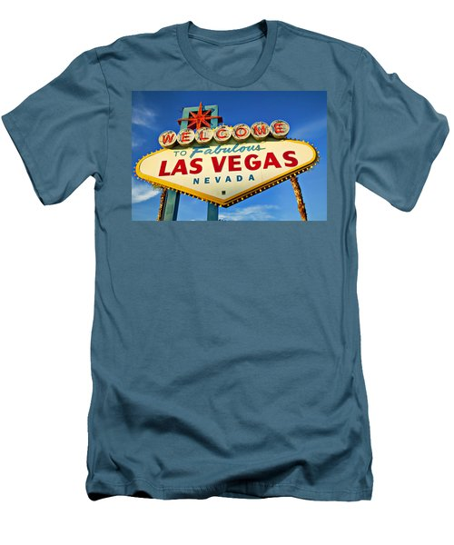 Welcome To Las Vegas Sign Men's T-Shirt (Athletic Fit)