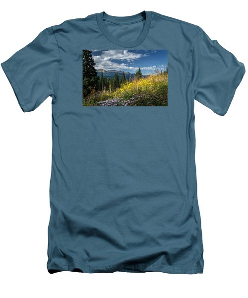 West Elk Mountain Range Men's T-Shirt (Slim Fit) by Michael J Bauer