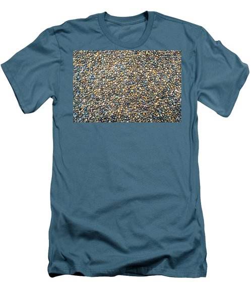 Wet Beach Stones Men's T-Shirt (Slim Fit) by John Williams
