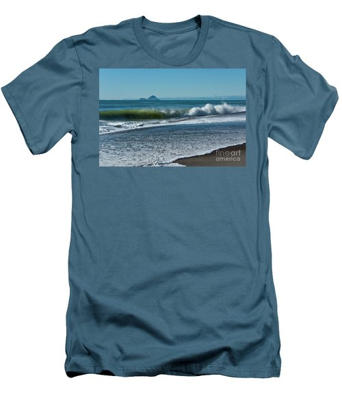 Men's T-Shirt (Slim Fit) featuring the photograph Whale Island by Werner Padarin