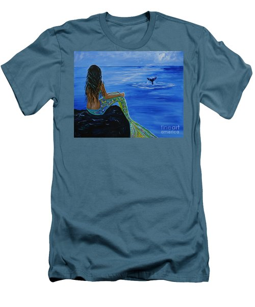 Whale Watcher Men's T-Shirt (Athletic Fit)