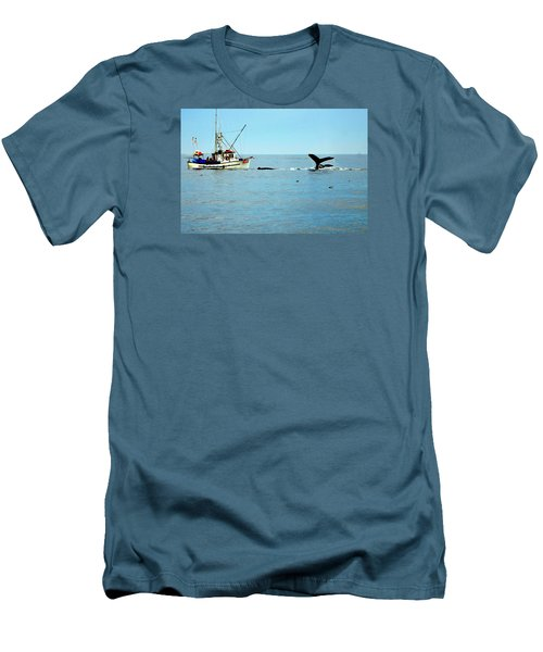 Whale Watching Moss Landing Series 26 Men's T-Shirt (Slim Fit) by Antonia Citrino