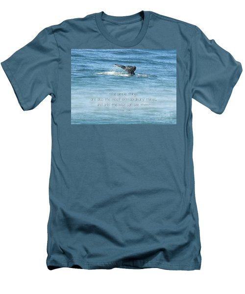 Men's T-Shirt (Athletic Fit) featuring the photograph Whale's Tail by Peggy Hughes