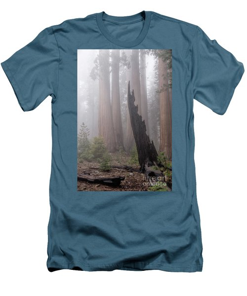 Men's T-Shirt (Athletic Fit) featuring the photograph What Lurks In The Forest by Peggy Hughes