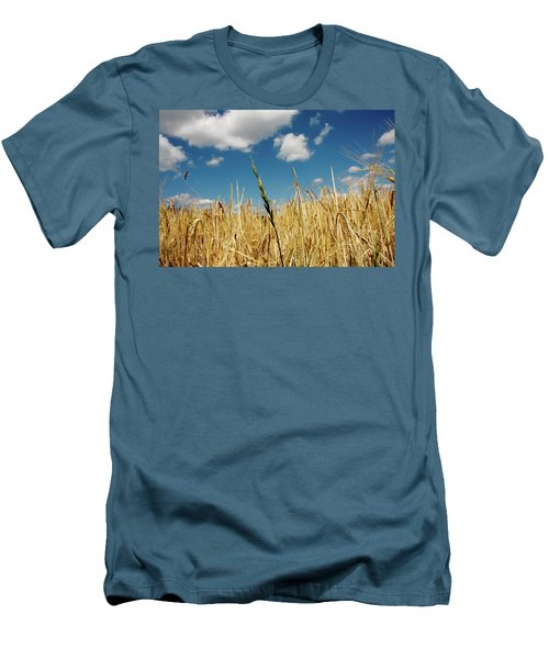 Men's T-Shirt (Slim Fit) featuring the photograph Wheat On The Rhine by KG Thienemann