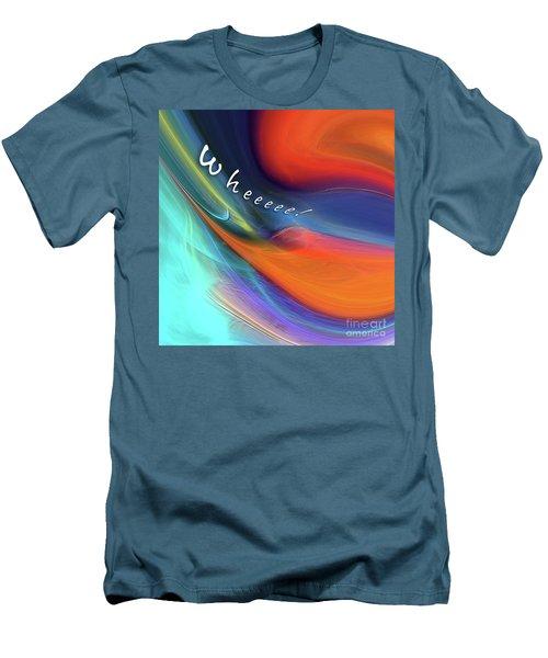 Men's T-Shirt (Athletic Fit) featuring the digital art Wheeeee by Margie Chapman