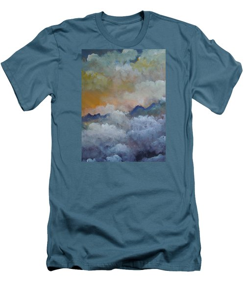 When I Consider Your Heavens Psalm 8 Men's T-Shirt (Slim Fit) by Dan Whittemore