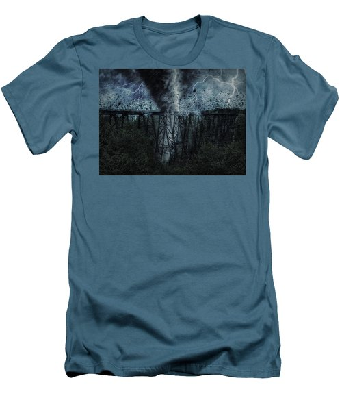 When The Tornado Hit The Bridge Men's T-Shirt (Athletic Fit)