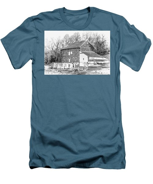 Where Have All The Farmers Gone Men's T-Shirt (Slim Fit) by Judy Wolinsky