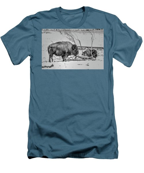 Where The Buffalo Rest Men's T-Shirt (Athletic Fit)