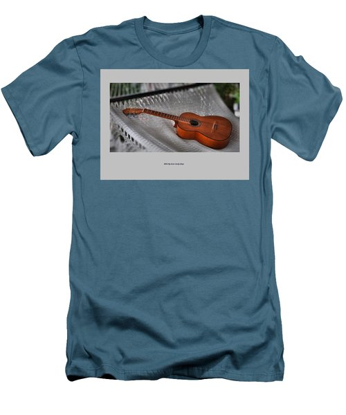 While My Guitar Gently Sleeps Men's T-Shirt (Slim Fit) by Jim Walls PhotoArtist