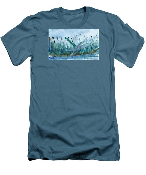 Whispering Cattails Men's T-Shirt (Athletic Fit)