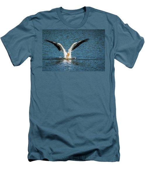 White American Pelican Men's T-Shirt (Slim Fit) by Pamela Williams