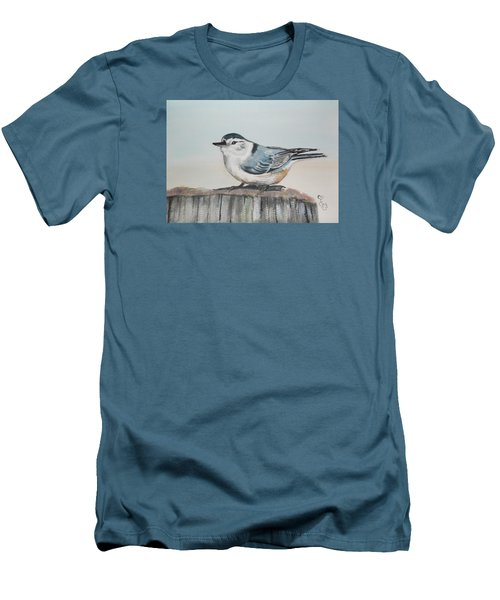 White Breasted Nuthatch Men's T-Shirt (Athletic Fit)