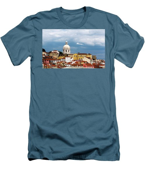 Men's T-Shirt (Slim Fit) featuring the photograph White Dome Against Blue Sky by Lorraine Devon Wilke