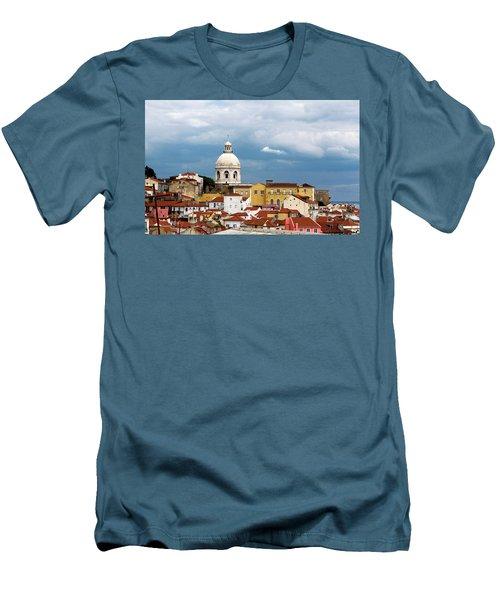White Dome Against Blue Sky Men's T-Shirt (Slim Fit) by Lorraine Devon Wilke
