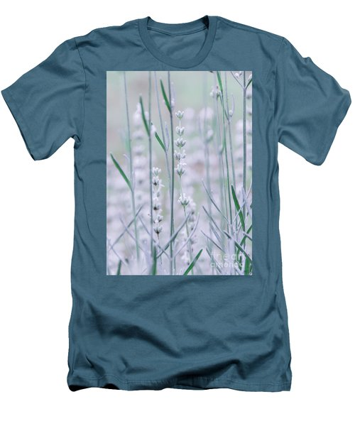 Men's T-Shirt (Athletic Fit) featuring the photograph White Lavender  by Andrea Anderegg