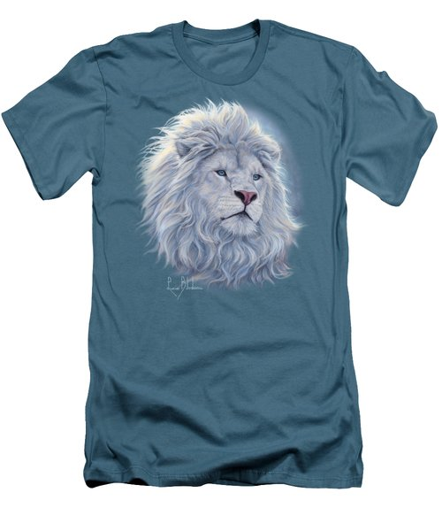 White Lion Men's T-Shirt (Slim Fit) by Lucie Bilodeau