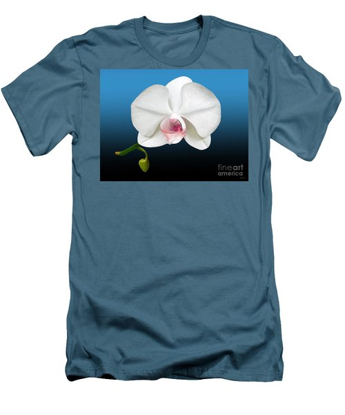 White Orchid Men's T-Shirt (Slim Fit) by Rand Herron