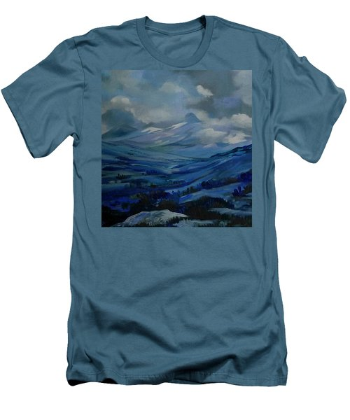Men's T-Shirt (Slim Fit) featuring the painting White Pass by Anna  Duyunova