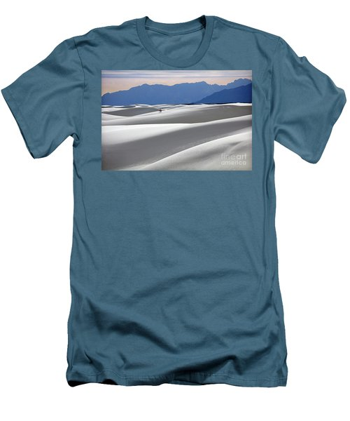 Men's T-Shirt (Slim Fit) featuring the photograph White Sands Hikers by Martin Konopacki