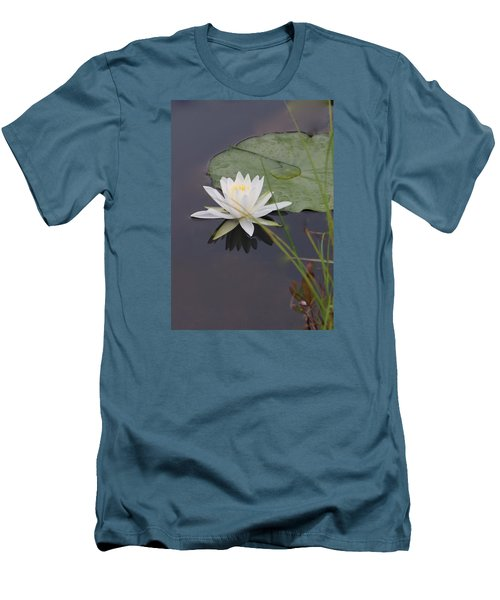 Men's T-Shirt (Slim Fit) featuring the photograph White Water Lotus by Debra     Vatalaro
