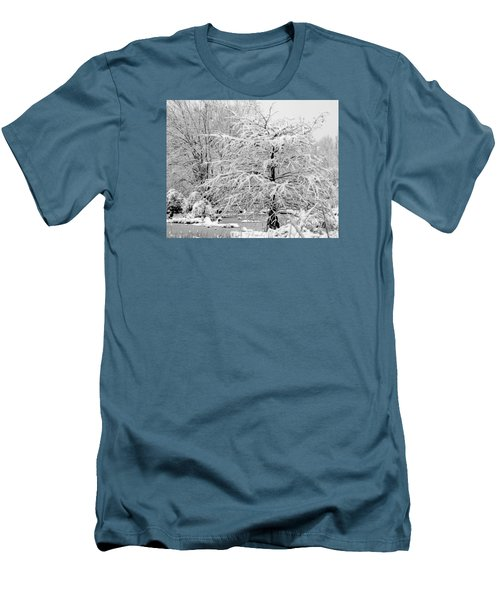 Whiteout In The Wetlands Men's T-Shirt (Slim Fit) by John Harding