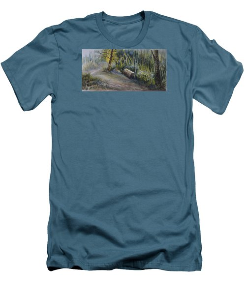 Whiteshell Trail Men's T-Shirt (Slim Fit) by Joanne Smoley