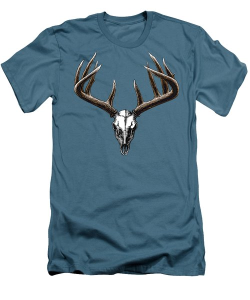 Whitetail Skull Men's T-Shirt (Athletic Fit)