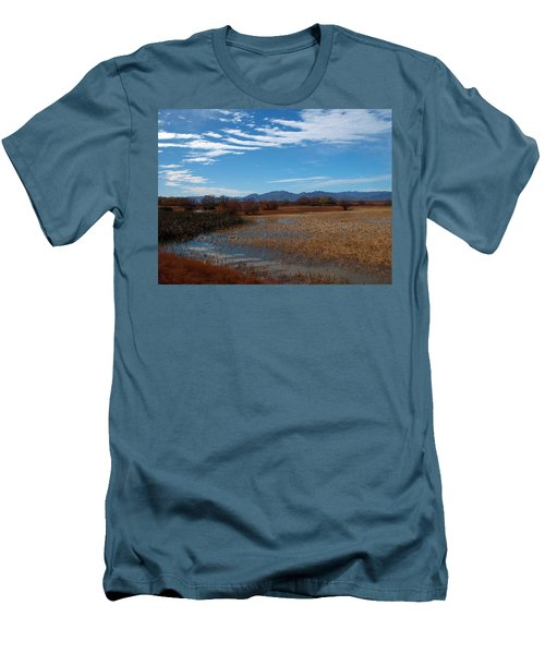 Men's T-Shirt (Slim Fit) featuring the photograph Whitewater Draw by James Peterson