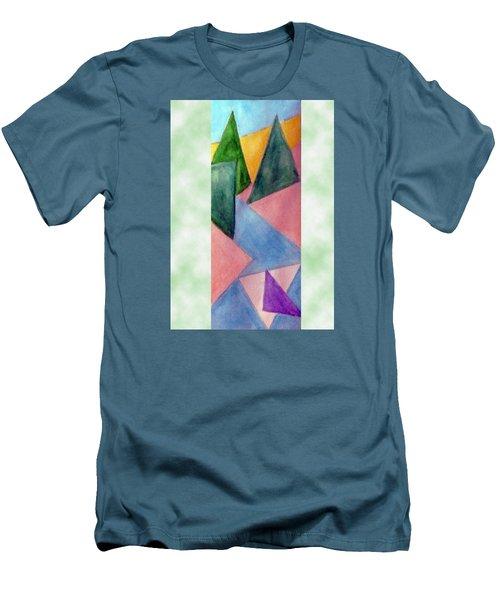 Whitewater Raft Men's T-Shirt (Slim Fit) by Loretta Nash