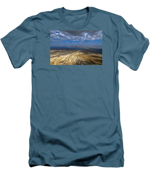 Wide View From Masada Men's T-Shirt (Slim Fit) by Dubi Roman