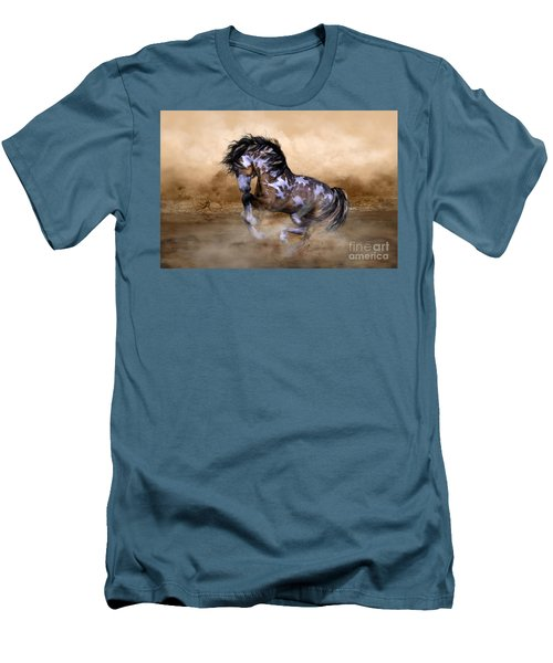 Men's T-Shirt (Slim Fit) featuring the digital art Wild And Free Horse Art by Shanina Conway