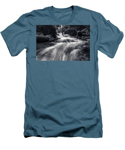 wild creek in Harz, Germany Men's T-Shirt (Slim Fit) by Andreas Levi